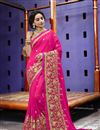 image of Magenta Fancy Fabric Occasion Wear Saree With Embroidery Work