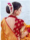 photo of Mustard Weaving Work Traditional Fancy Saree