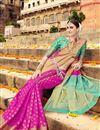 photo of Art Silk Traditional Fancy Saree In Magenta