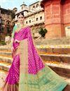 image of Art Silk Traditional Fancy Saree In Magenta