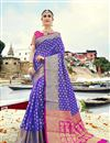 image of Wedding Special Weaving Work Art Silk Light Purple Fancy Designer Saree