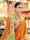 photo of Art Silk Weaving Work Designer Orange Saree