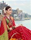 photo of Wedding Special Weaving Work Red Designer Wedding Wear Saree