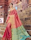 image of Fancy Art Silk Weaving Work Designer Pink Saree