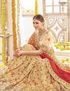 photo of Wedding Function Wear Cream Georgette Designer Saree