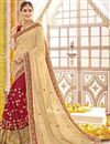 image of Wedding Bridal Wear Georgette Embroidered Saree