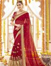 image of Designer Georgette Fancy Embellished Bridal Saree