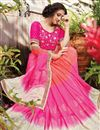 photo of Occasion Wear Pink Saree In Fancy Fabric With Embroidery Work