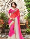 image of Occasion Wear Pink Saree In Fancy Fabric With Embroidery Work