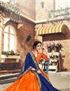 photo of Occasion Wear Orange Lehenga Choli In Banarasi Silk Fabric With Weaving Work