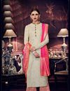 image of Eid Special Embroidered Art Silk Beige Function Wear Palazzo Salwar Suit