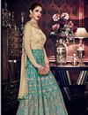 photo of Embroidered Function Wear Art Silk Anarkali Salwar Suit
