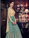 photo of Embroidered Function Wear Art Silk Anarkali Salwar Suit