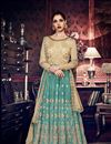 image of Embroidered Function Wear Art Silk Anarkali Salwar Suit