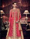 image of Art Silk Embellished Wedding Wear Anarkali Salwar Kameez