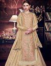 image of Wedding Special Embellished Designer Function Wear Art Silk Anarkali Suit