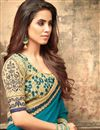 photo of Eid Special Sky Blue Art Silk Occasion Wear Saree With Embroidery Work And Blouse