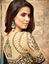 picture of Eid Special Sky Blue Art Silk Occasion Wear Saree With Embroidery Work And Blouse