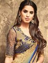 photo of Eid Special Embroidery Designs On Georgette Blue Function Wear Saree With Blouse