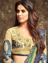 photo of Georgette Function Wear Saree In Navy Blue Color With Embroidery Designs
