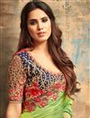 photo of Eid Special Georgette Sea Green Wedding Wear Saree With Embroidery Work And Blouse