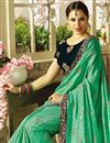 photo of Eid Special Sea Green Georgette And Art Silk Party Wear Fancy Saree