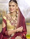 photo of Designer Function Wear Art Silk Embroidered Saree In Maroon