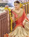 photo of Wedding Wear Beige Fancy Fabric Embroidered Designer Saree