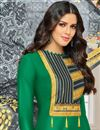photo of Green Color Cotton Designer Salwar Suit With Digitally Printed Dupatta