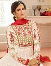 photo of Eid Special Embellished White Georgette Fancy Function Wear Anarkali Dress