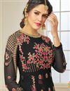 photo of Eid Special Black Embellished Long Wedding Wear Georgette Anarkali Salwar Suit