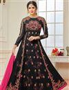 image of Eid Special Black Embellished Long Wedding Wear Georgette Anarkali Salwar Suit