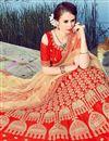 photo of Eid Special Function Wear Art Silk Red Fancy Lehenga