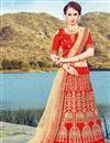 image of Eid Special Function Wear Art Silk Red Fancy Lehenga
