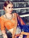photo of Eid Special Orange Function Wear Fancy Art Silk Designer Lehenga