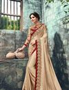 image of Embroidered Banglori Silk Fancy Designer Saree In Cream