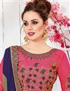 photo of Embroidery Designs On Dark Beige Designer Saree In Art Silk Fabric