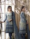 image of Crepe Printed Casual Salwar Suit With Churidar