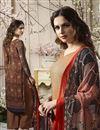 photo of Printed Crepe Brown Palazzo Salwar Suit