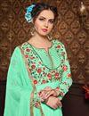 photo of Embroidered Georgette And Bhagalpuri Fabric Designer Anarkali Salwar Kameez