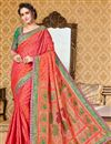image of Traditional Uppada Silk Pink Color Designer Fancy Saree
