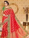 image of Wedding Function Wear Traditional Uppada Silk Saree