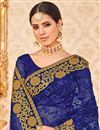 photo of Net Function Wear Blue Designer Saree