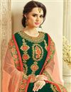 photo of Dark Green Embroidered Georgette Designer Sharara Dress