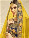 photo of Georgette Fancy Sharara Suit With Heavy Work In Navy Blue