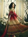 photo of Maroon Digital Print Pure Crepe Readymade Anarkali Salwar Suit