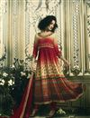 image of Maroon Digital Print Pure Crepe Readymade Anarkali Salwar Suit