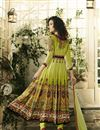 photo of Digital Print Embellished Readymade Anarkali Dress In Pure Crepe