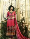 image of Pure Crepe Crimson Digital Print Readymade Anarkali Salwar Kameez