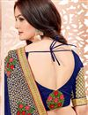 photo of Function Wear Art Silk Navy Blue Saree With Lace